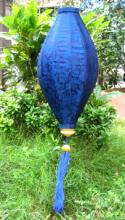 Blue Asian Lanterns - Vietnamese Blue Silk Lanterns