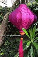 Red Violet Asian Lanterns - Vietnamese Silk Lanterns