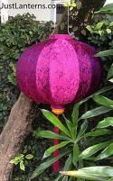 Red Violet Asian Lanterns - Vietnamese Silk Lanterns