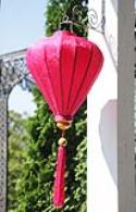 Hot Pink Silk Lanterns