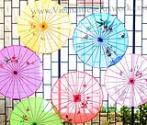 Hand Painted Umbrellas for Home Decor