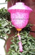 Pink Asian Lanterns - Vietnamese Pink Silk Lanterns