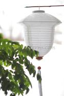 White Asian Lanterns - Vietnamese White Silk Lanterns