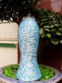 Light Teal Asian Lanterns - Vietnamese Light Teal Silk Lanterns
