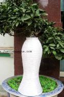 White Asian Lanterns - Vietnamese White Silk Lanterns