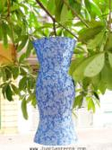 Sky Blue Asian Lanterns - Vietnamese Sky Blue Silk Lanterns