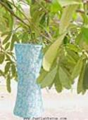 Light Teal Asian Lanterns - Vietnamese Light Teal Silk Lanterns