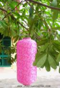 Pink Asian Lanterns - Vietnamese Pink Silk Lanterns