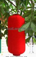 Red Asian Lanterns - Vietnamese Red Silk Lanterns