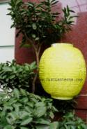 Citrus Asian Lanterns - Vietnamese Tropical Citrus Silk Lanterns