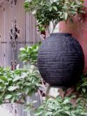 Black Asian Lanterns - Vietnamese Black Silk Lanterns