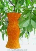 Golden Brown Asian Lanterns - Vietnamese Golden Brown Silk Lanterns