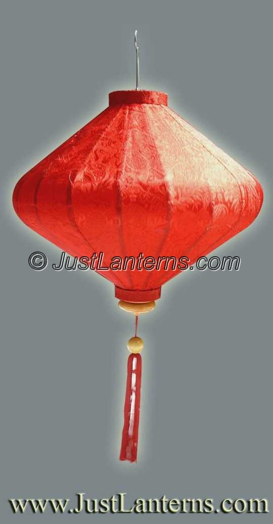 Asian/Vietnamese Lantern - Medium Diamond Red - A01S