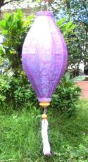 Rose Purple Asian Lanterns - Vietnamese Rose Purple Silk Lanterns