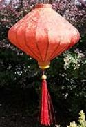 Orange Red Silk Lanterns