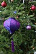 Purple Red Asian Lanterns - Vietnamese Purple Red Silk Lanterns