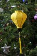 Yellow Asian Lanterns - Vietnamese Yellow Silk Lanterns