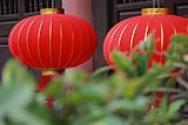 Extra Large Red Velvet Lanterns