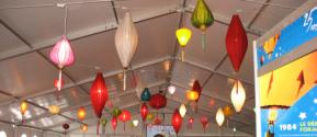 The pictures of our beautiful lanterns sent to us by customers