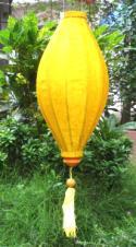Yellow Asian Lanterns - Vietnamese Yellow Silk Lanterns