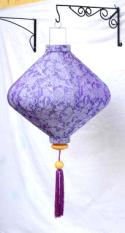 Lavender Asian Lanterns - Vietnamese Lavender Silk Lanterns