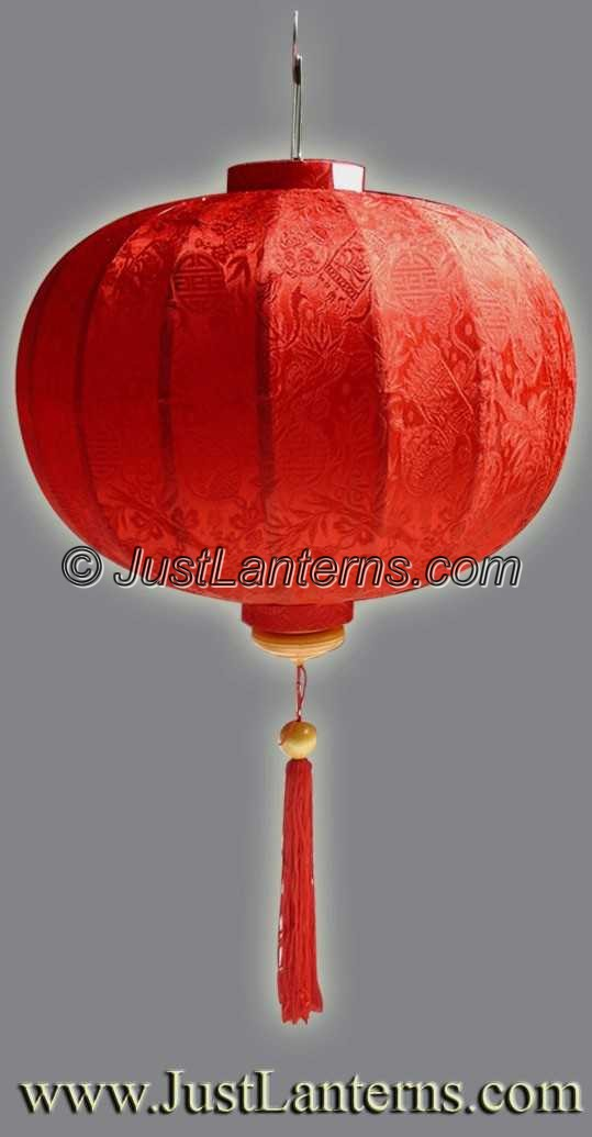 Vietnamese Lantern - Medium Round Red - C01S