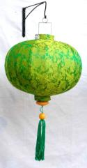 Green Asian Lanterns - Vietnamese Green Silk Lanterns