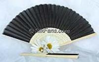 Vietnamese Black Silk Fans/Hand Made Fans/ Black Silk on Bamboo