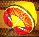Red Bamboo Fan