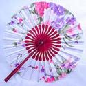 Flower Silk Fans/Hand Made Silk Fans
