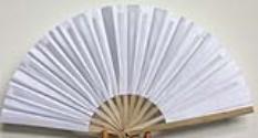 Vietnamese White Silk Fans