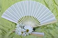 Vietnamese White Silk Fans