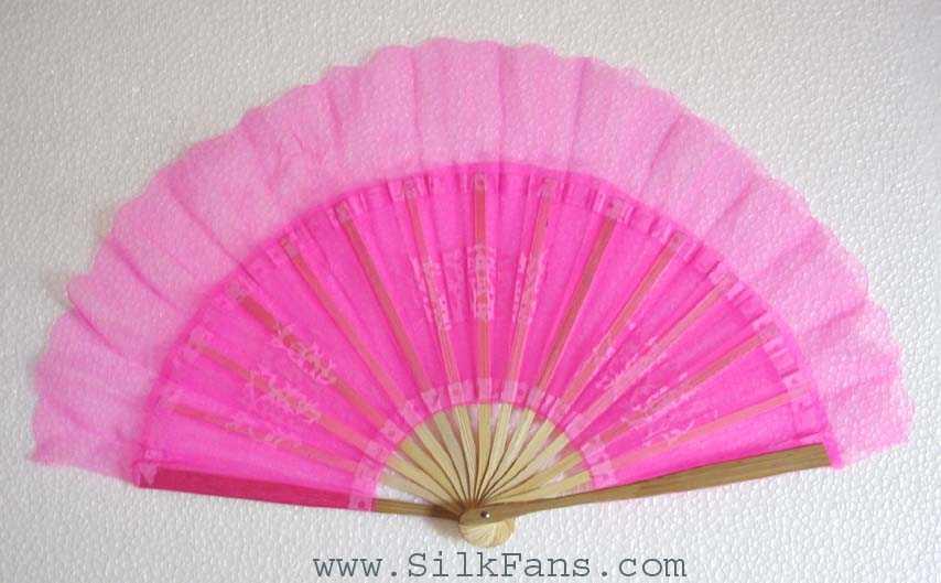 Pink Silk Dance Fan