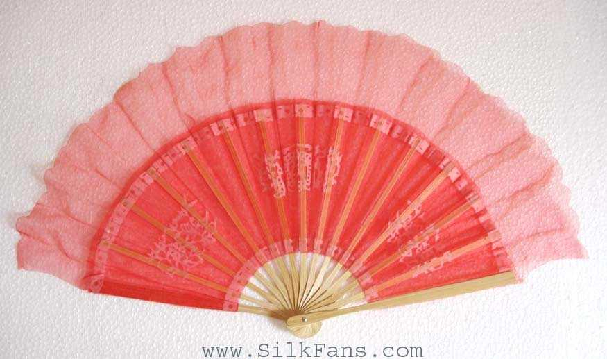 Red Silk Dance Fan
