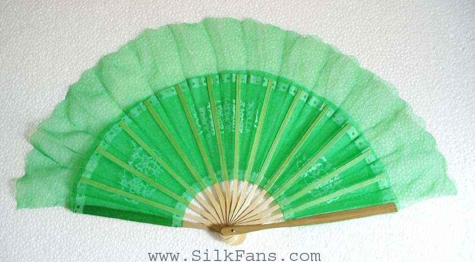 Green Silk Dance Fan
