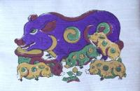 Dong Ho Paintings-Dzo Painting-Vietnamese Folk Art