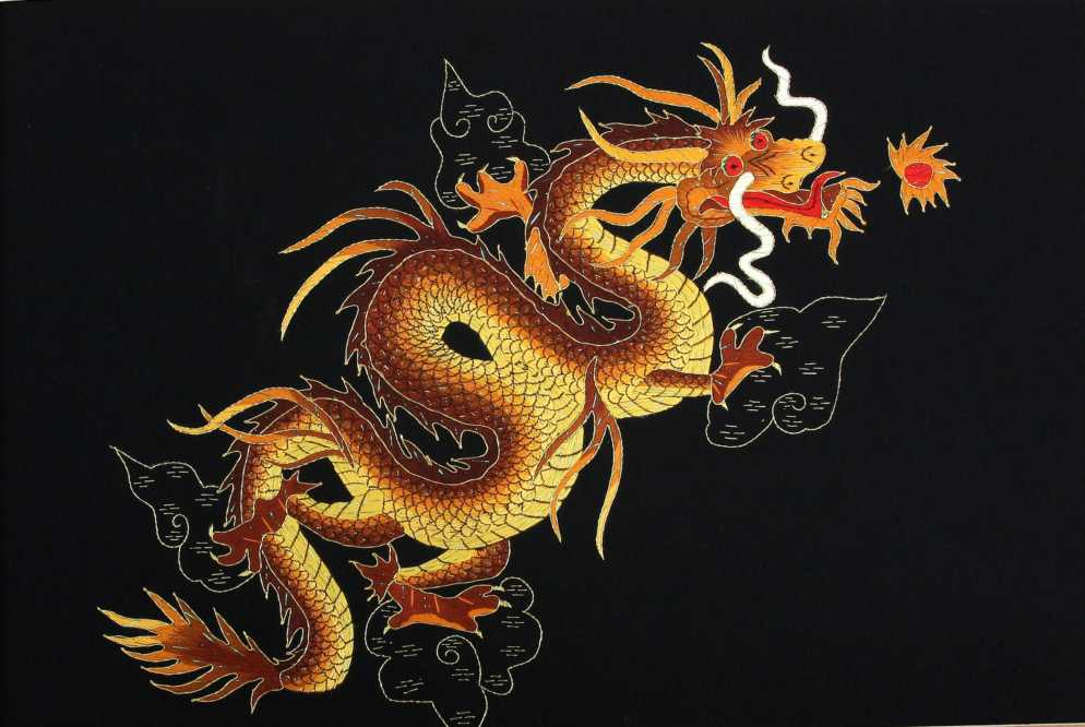 hand embroidery dragon