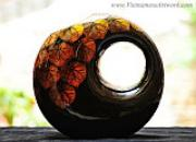 Lacquered Ceramic Vase