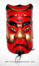Vietnamese Traditional Theatre Masks-Vietnam Oriental Coconut and Bamboo Masks-Asian Masks