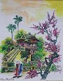 Vietnamese Silk Paintings-Vietnam Silk Artwork-Oriental Asian Silk