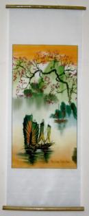 Vietnamese Silk Paintings-Vietnam Silk Artwork-Oriental Asian Silk