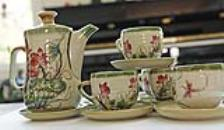 Vietnamese Tea Sets/Hand Made Tea Sets from Bat Trang/Authentic Oriental Teasets
