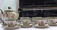 Vietnamese Tea Sets/Hand Made Tea Sets from Bat Trang/Authentic Oriental Teasets