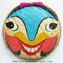 Vietnamese Traditional Theatre Masks-Vietnam Oriental Coconut and Bamboo Masks-Asian Masks
