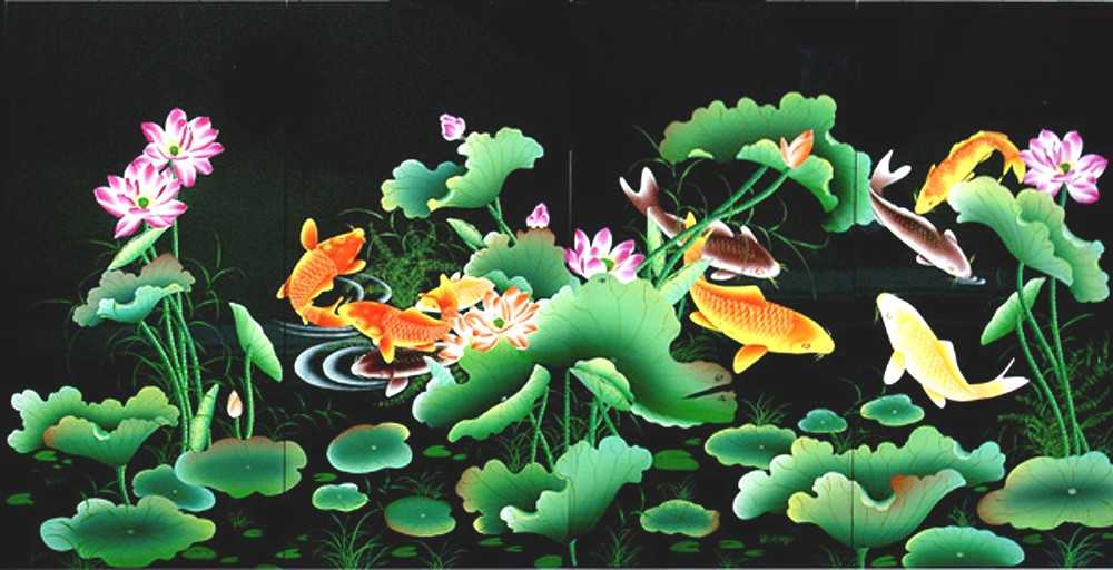 Lotus and Fish
