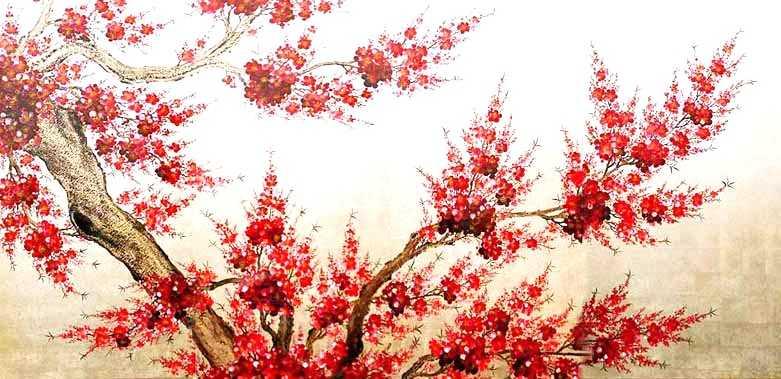 Red Cherry Blossom